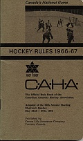 C.A.H.A. Hockey Rules 1966-67