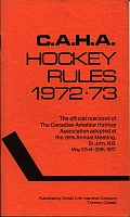 C.A.H.A. Hockey Rules 1972-73