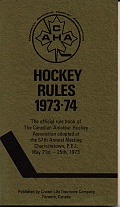 C.A.H.A. Hockey Rules 1973-74