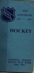 National hockey league rule book 1966-1967