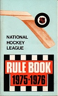 Rule book NHL 1975/1976