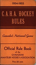 C.A.H.A. Hockey Rules 1954-55