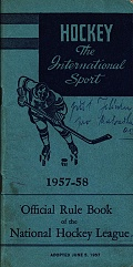 Official rule book of the NHL 1957-58