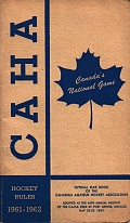 C.A.H.A. Hockey Rules 1961-62