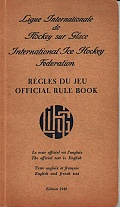 Régles du jeu/Official Rule Book 1949