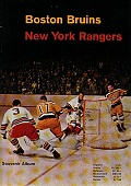 Oficiální program k zápasu Boston Bruins - New York Rangers z roku 1959