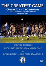DVD The Greatest Game: Chealsea FC - FC Barcelona