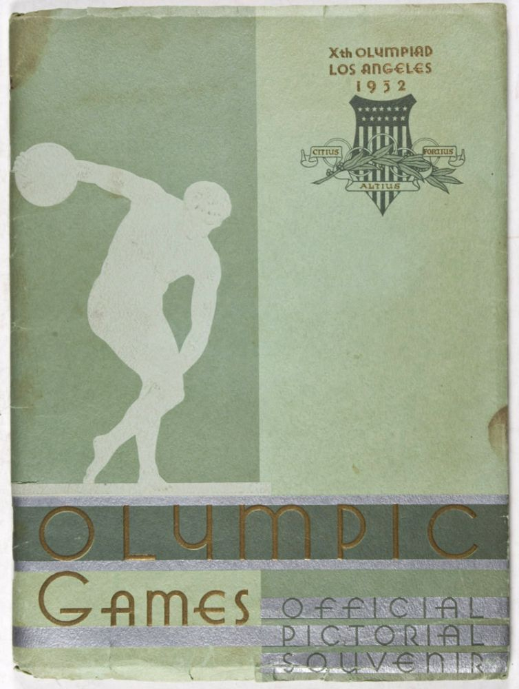 Official pictorial souvenir - Xth Olympic Games Los Angeles 1932