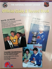NHL Official Guide & Record Book 1991-92